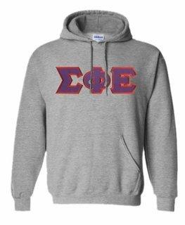 DISCOUNT Sigma Phi Epsilon Lettered Hooded Sweatshirt