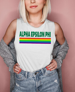 Alpha Epsilon Phi BELLA + CANVAS - Prism Muscle Tank
