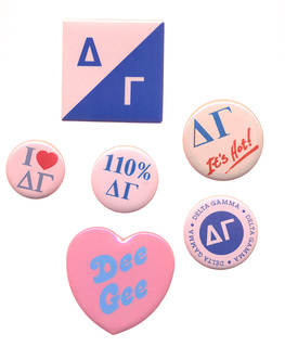 Delta Gamma Sorority Buttons 6-Pack