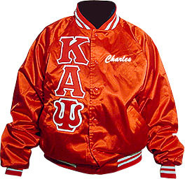 Greek Lettered Satin Jacket