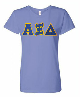 DISCOUNT- Lettered Sorority V-Neck tee