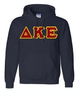 DISCOUNT Delta Kappa Epsilon Lettered Hooded Sweatshirt