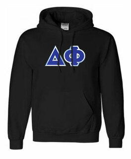 DISCOUNT Delta Phi Lettered Hooded Sweatshirt