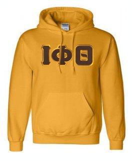 DISCOUNT Iota Phi Theta Lettered Hooded Sweatshirt