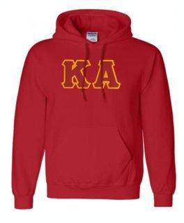 DISCOUNT Kappa Alpha Lettered Hooded Sweatshirt