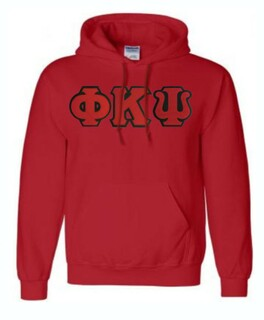 DISCOUNT Phi Kappa Psi Lettered Hooded Sweatshirt