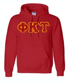 DISCOUNT Phi Kappa Tau Lettered Hooded Sweatshirt
