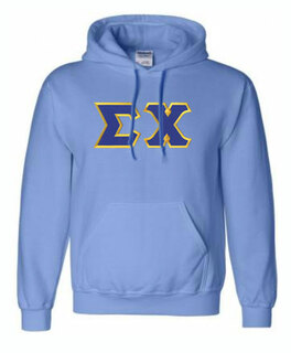 DISCOUNT Sigma Chi Lettered Hooded Sweatshirt