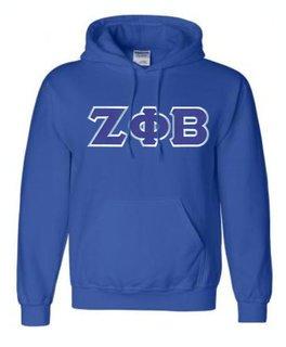 DISCOUNT Zeta Phi Beta Lettered Hooded Sweatshirt