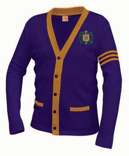 Omega Psi Phi Varsity Cardigan Sweater