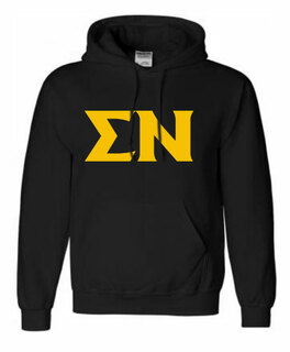 Printed Greek Letter Hooded Sweatshirt