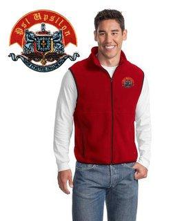 DISCOUNT-Psi Upsilon Fleece Crest - Shield Vest