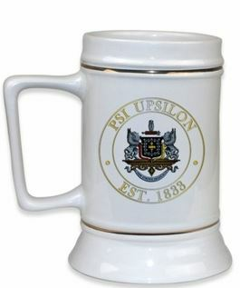Psi Upsilon Ceramic Stein