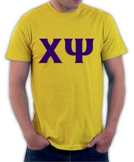 Chi Psi Lettered Shirt