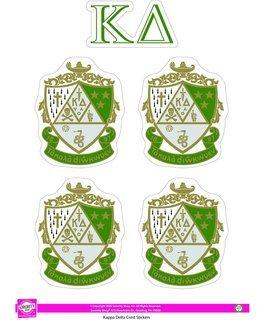 Kappa Delta Crest Sticker Sheet
