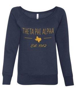Theta Phi Alpha State Sorority Wideneck Crew Sweatshirt