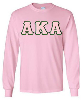 DISCOUNT Alpha Kappa Alpha Lettered Long Sleeve Tee
