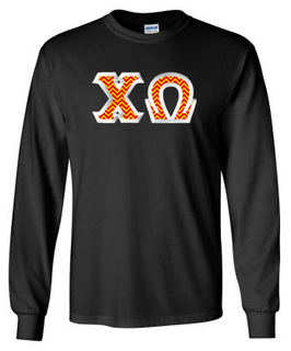 $23.99 Chi Omega Custom Twill Long Tee