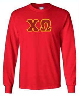 DISCOUNT Chi Omega Lettered Long Sleeve Tee