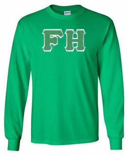 DISCOUNT FarmHouse Fraternity Lettered Long Sleeve Tee