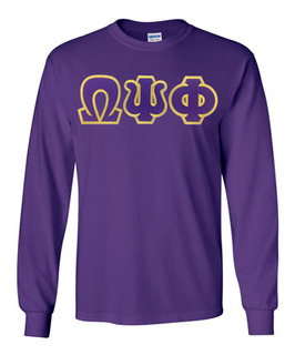 DISCOUNT Omega Psi Phi Lettered Long sleeve