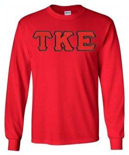 DISCOUNT Tau Kappa Epsilon Lettered Long Sleeve Tees