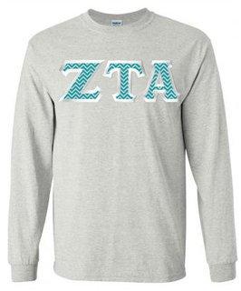 $23.99 Zeta Tau Alpha Custom Twill Long Tee