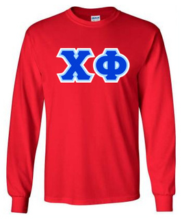 3 Color Twill Chi Phi Custom Twill Twill-Long-Sleeve-Tee