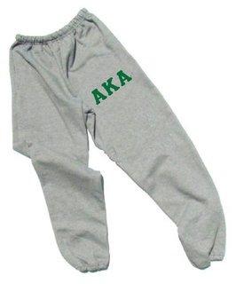 Alpha Kappa Alpha Lettered Thigh Sweatpants