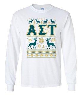 Alpha Sigma Tau Ugly Christmas Sweater Long Sleeve T-Shirt