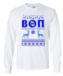 Beta Theta Pi Ugly Christmas Sweater Long Sleeve T-Shirt
