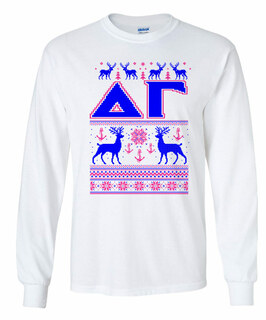 Delta Gamma Ugly Christmas Sweater Long Sleeve T-Shirt