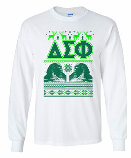 Delta Sigma Phi Ugly Christmas Sweater Long Sleeve T-Shirt
