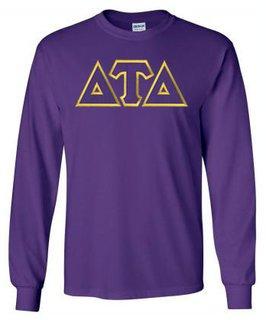 Delta Tau Delta Lettered Long Sleeve Shirt