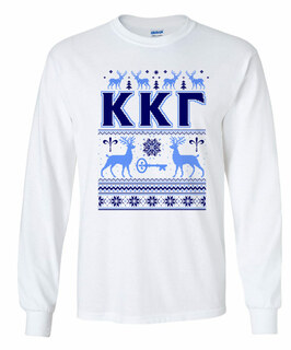 Fraternity & Sorority Ugly Christmas Sweater Long Sleeve T-Shirt