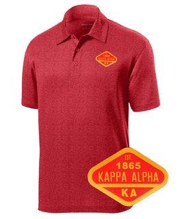 DISCOUNT-Kappa Alpha Woven Emblem Greek Contender Polo
