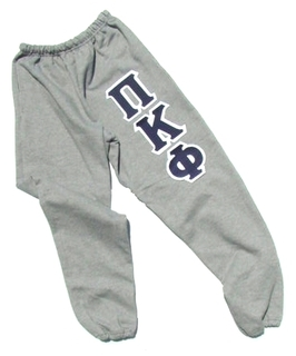 Lettered Leg Fraternity & Sorority Sweatpants