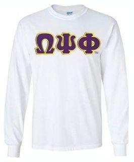 Omega Psi Phi Lettered Long Sleeve Shirt