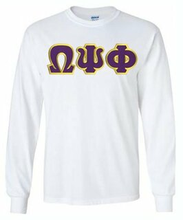 Omega Psi Phi Lettered Long Sleeve Shirt