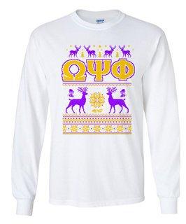 Omega Psi Phi Ugly Christmas Sweater Long Sleeve T-Shirt