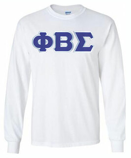 Phi Beta Sigma Lettered Long Sleeve Shirt