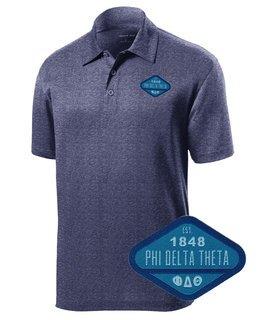 DISCOUNT-Phi Delta Theta Woven Emblem Greek Contender Polo