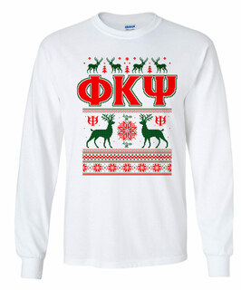 Phi Kappa Psi Ugly Christmas Sweater Long Sleeve T-Shirt