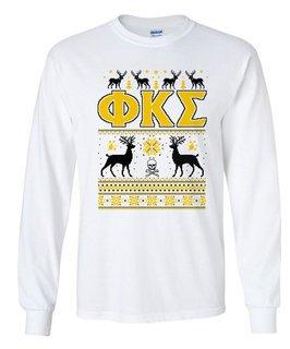 Phi Kappa Sigma Ugly Christmas Sweater Long Sleeve T-Shirt