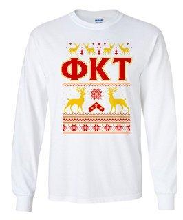 Phi Kappa Tau Ugly Christmas Sweater Long Sleeve T-Shirt
