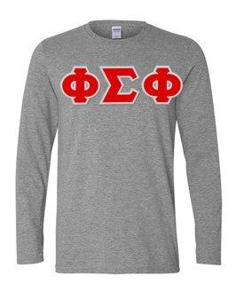 Phi Sigma Phi Greek Letter Twill Long Sleeve Tee