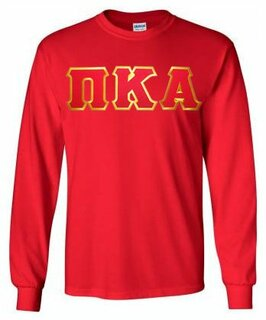 Pi Kappa Alpha Lettered Long Sleeve Shirt