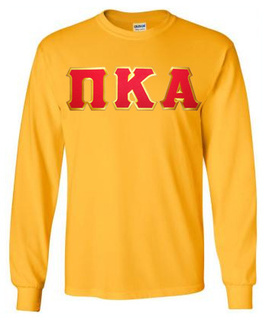 Pi Kappa Alpha Lettered Long Sleeve Tee- MADE FAST!