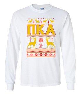 Pi Kappa Alpha Ugly Christmas Sweater Long Sleeve T-Shirt