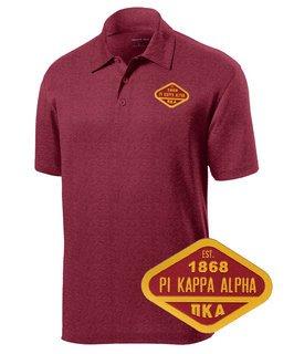 DISCOUNT-Pi Kappa Alpha Woven Emblem Greek Contender Polo